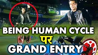 Salman Khan PROMOTES Being Human Cycle At ISL 2017 Opening Ceremony