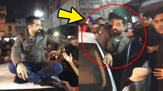 Ajaz Khan MOBBED By Fans In Ahmedabad | Massive Crowd Gathers For Ajaz Khan