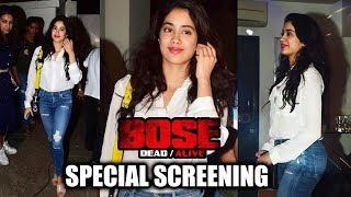 Jhanvi Kapoor At Special Screening Of Web Series Bose