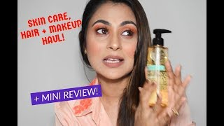 SKIN CARE, MAKEUP, HAIR PRODUCTS HAUL+ REVIEW