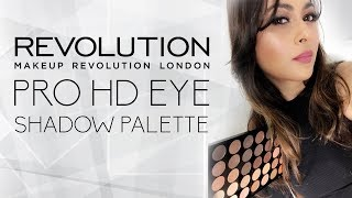 MAKEUP REVOLUTION PRO HD EYESHADOW PALETTE REVIEW