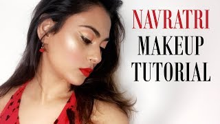 NAVRATRI MAKEUP LOOK| INDIAN FESTIVE MAKEUP|
