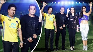 Salman Khan And Sachin Tendulkar Together At ISL 2017 Opening Ceremony