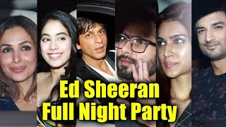 Ed Sheeran Night Party In Mumbai FULL VIDEO | Shahrukh Khan, Shahid Kapoor, Malaika Arora