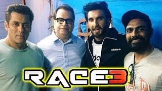 Ranveer Singh MEETS Salman Khan On RACE 3 Sets