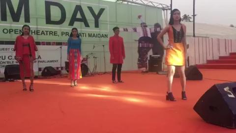 Fashion show Celebrations of Mizoram Day at IITF 2017