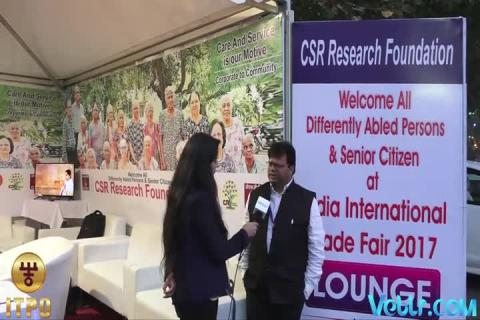 CSR Research Foundation - Welcome All Differently Abled Persons & Senior Citizen at 37th India International Trade Fair 2017
