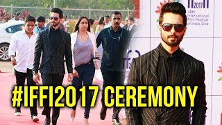 Shahid Kapoor GRAND ENTRY At Opening Ceremony Of International Film Festival 2017