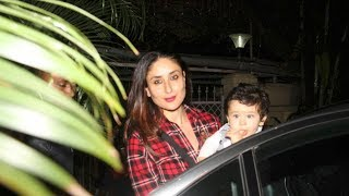 Kareena Kapoor spotted with her adorable son Taimur