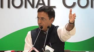 AICC Press Briefing By Randeep Surjewala on Congress Working Committee