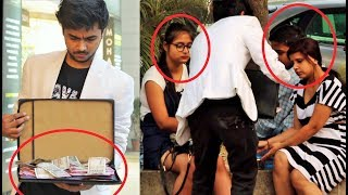 Giving ₹10,000,00???? to Random People Experiment (Money Kicks)   Pranks In India