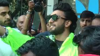 Ranveer Singh seen in his swag avatar