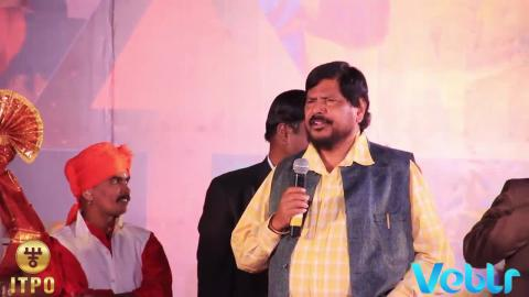 Hon'ble Minister of State Shri Ramdas Athawale at Maharashtra Day celebrations at IITF 2017