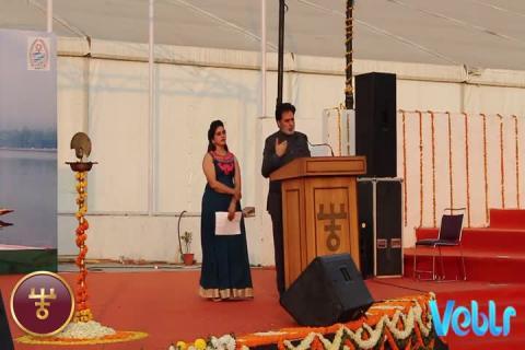 Hon'ble MLA of DORU Shri Farooq Ahmad Andrabi Ji Speech at IITF 2017 on Jammu & Kashmir State Day celebrations.