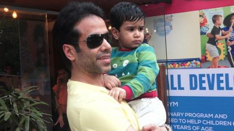 Tusshar Kapoor Spotted With His CUTE Son Laksshya