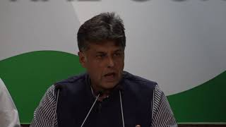 AICC Press Briefing By Manish Tewari on Rafale Deal at Congress HQ, December 1, 2017