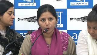Aap Leaders Brief Media on NCRB Report