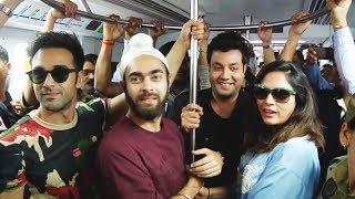 Fukrey Returns Team Visit Andheri Metro Station | Fuckrey Returns Promotion
