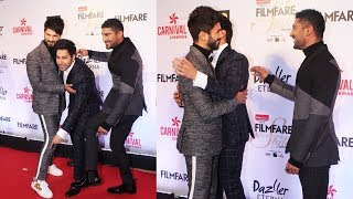 Varun Dhawan And Shahid Kapoor FUN MOMENT At Filmfare Glamour and Style Awards 2017