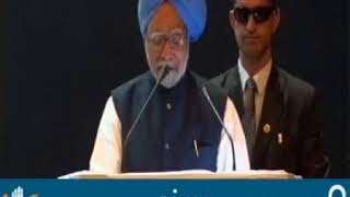 Former PM Dr. Manmohan Singh addresses professionals and businessmen in Surat.