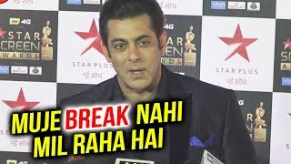 Salman Khan On His BAD THROAT Infection | Star Screen Awards 2018 | Tiger At Star Screen Awards