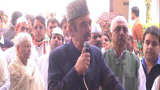 Ghulam Nabi Azad on Rahul Gandhi filing nomination for the post of Congress President