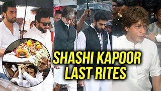 Shashi Kapoor LAST RITES | Funeral | Shahrukh, Saif Ali Khan, Abhishek Bachchan