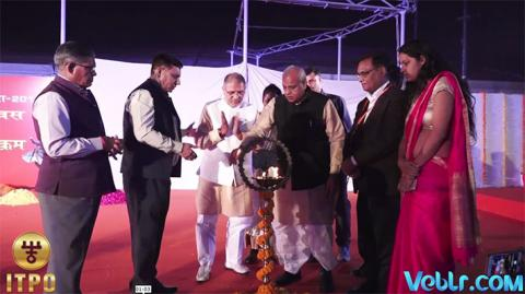 Lighting the ceremonial lamp at iitf 2017 on Uttar Pradesh State Day