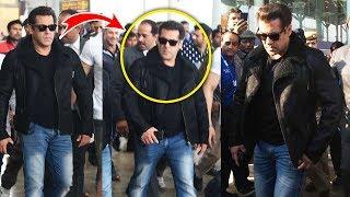 Salman Khan Spotted At Delhi Airport - Da-Bang Tour Delhi 2017
