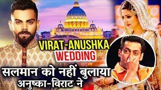 Guest List Of Anushka - Virat Kohli Wedding, Salman Khan Not INVITED