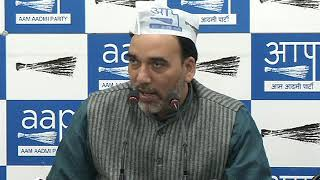 AAP Delhi convenor Gopal Rai addresses the media on Max Hospital issue