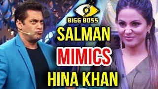 Salman Khan MAKES FUN Of Hina Khan, Don't Show Your Pathetic Face | Bigg Boss 11