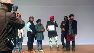 Kanwal Preet Wins Best Actor Award for ZUBAAN at  HIFF 2017 Haryana International Film Festival 2017