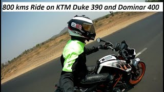 Awesome 800 kms Ride on KTM Duke 390 and Dominar 400.