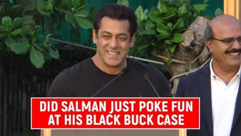 SHOCKING! Did Salman Khan Just Poke Fun At His Black Buck Case?
