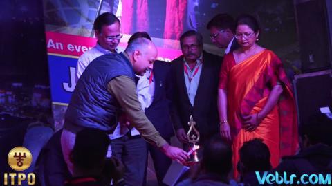 Lighting the ceremonial lamp at iitf 2017 on Delhi Day