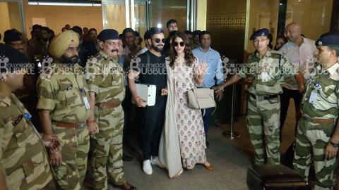 WATCH: AushkaSharma and ViratKohli arrive in Mumbai amidst high security