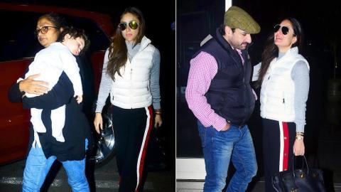 Kareena Kapoor Khan, Saif Ali Khan & Taimur Spotted At Airport, Leaving For Europe