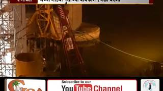 Floating Crane Used In New Mandovi Bridge Construction Collapses in The River
