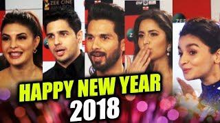 Bollywood Celebs Wishes Happy New Year 2018 | Katrina, Alia, Shahid, Jacqueline, Sidharth