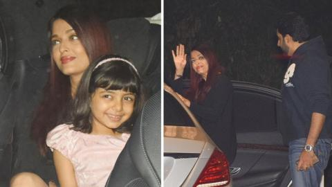 Aishwarya Rai On A Dinner Date With Abhishek Bachchan & Aaradhya Bachchan