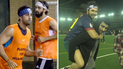 Ranbir Kapoor, Arjun Kapoor, Varun Dhawan & Others Spotted At A Football Match
