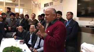 Dy CM Manish Sisodia attend a Mohalla Sabha Meeting to decide about Liquor Shops in Tilak Nagar Area