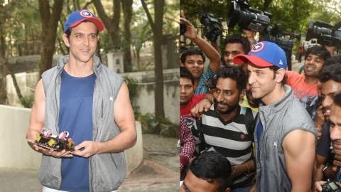 Hrithik Roshan Celebrates His Birthday With Fans - VIDEO