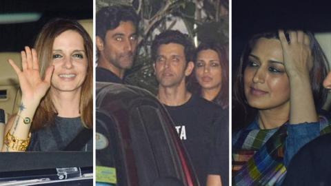 Sussanne Khan, Sonali Bendre, Zayed Khan At Hrithik Roshan's Birthday Party