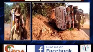 Fully Loaded Fuel Tanker Overturns At Khandepar