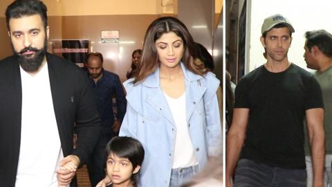 Shilpa Shetty & Hrithik Roshan SPOTTED With Family At Juhu PVR
