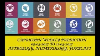 Capricorn Weekly Prediction Mar 05 - Mar 11, 2017 (AUDIO ENGLISH) | Weekly Horoscope March 2nd Week