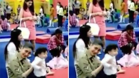 Taimur Enjoying Play Time With Mommy Kareena Kapoor