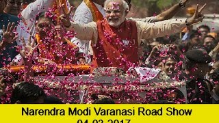 Narendra Modi Varanasi road show 04-03-2017 | BJP Road Show In Vanarasi  | UP Elcetion